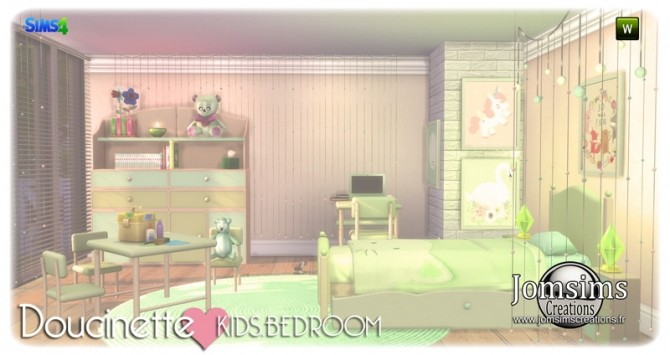 Doucinette kids bedroom at Jomsims Creations image 3413 670x355 Sims 4 Updates