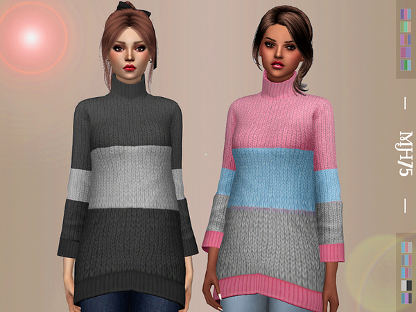 Oversized Sweater by Margeh 75 at TSR image 3420 Sims 4 Updates