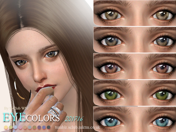 Sims 4 Eyecolors 201716 by S Club WM at TSR