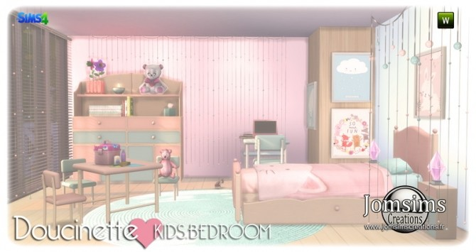 Doucinette kids bedroom at Jomsims Creations image 3432 670x355 Sims 4 Updates
