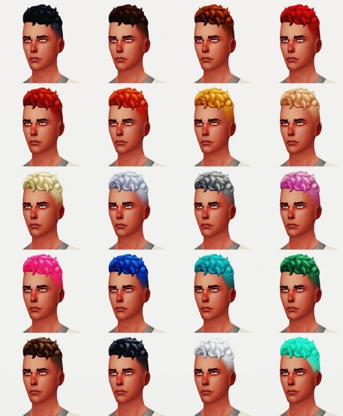 LEVI HAIR VERSION II M at Wyatts Sims image 3441 670x814 Sims 4 Updates