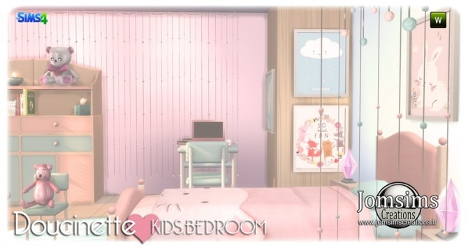 Doucinette kids bedroom at Jomsims Creations image 3442 670x355 Sims 4 Updates