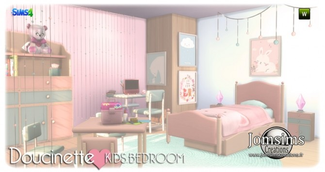 Doucinette kids bedroom at Jomsims Creations image 3451 670x355 Sims 4 Updates