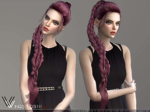 Hair OS1111 by wingssims at TSR image 347 Sims 4 Updates