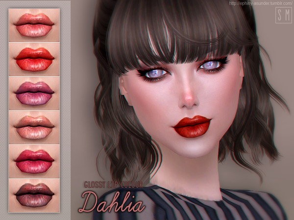 Dahlia Glossy Lip Colour by Screaming Mustard at TSR image 348 Sims 4 Updates