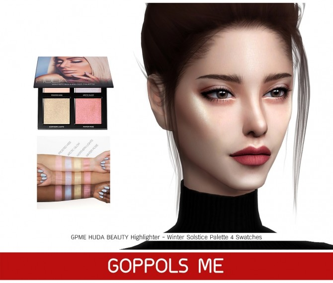 Sims 4 BEAUTY Highlighter Winter Solstice Palette at GOPPOLS Me