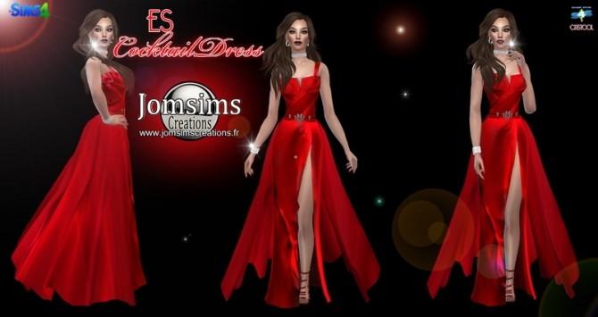 Sims 4 ES cocktail dress at Jenni Sims