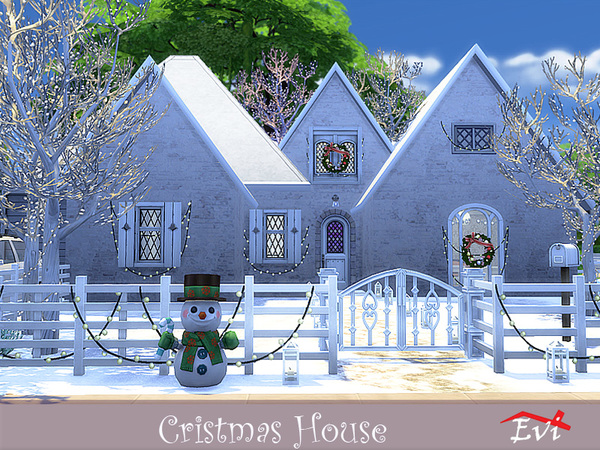 Christmas house by evi at TSR image 3523 Sims 4 Updates