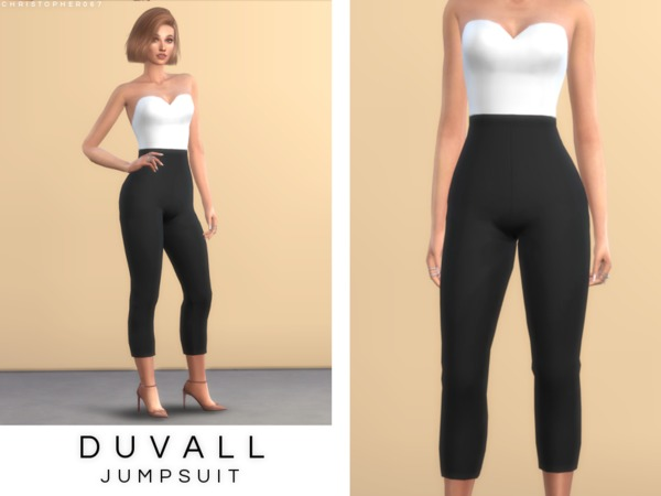 Duvall Jumpsuit by Christopher067 at TSR image 354 Sims 4 Updates