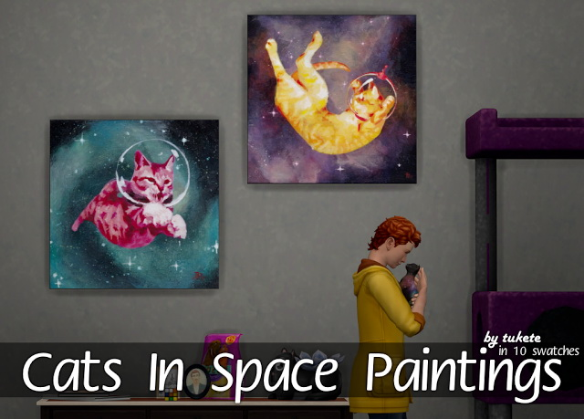 Sims 4 Cats In Space Paintings at Tukete