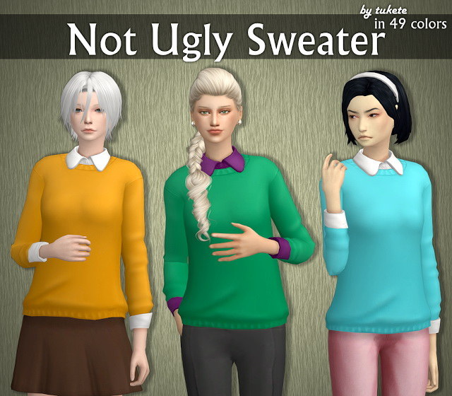 Sims 4 EP04 Not Ugly Sweater at Tukete