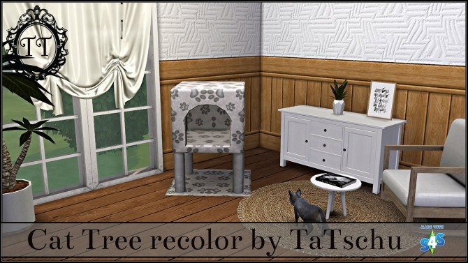 Sims 4 Cat Tree recolors at TaTschu`s Sims4 CC