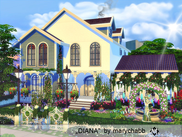 Sims 4 Diana house by marychabb at TSR