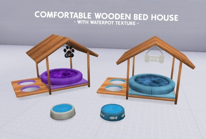 WOODEN BED HOUSE WITH WATERPOT TEXTURE at Coupure Electrique image 3611 670x452 Sims 4 Updates
