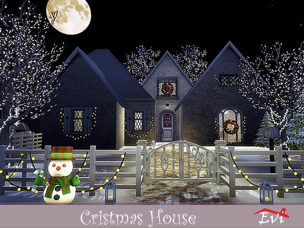 Christmas house by evi at TSR image 3622 Sims 4 Updates