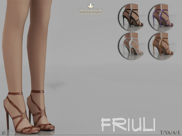 Sims 4 Madlen Friuli Shoes by MJ95 at TSR