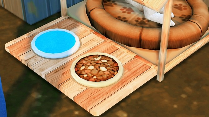 Sims 4 WOODEN BED HOUSE WITH WATERPOT TEXTURE at REDHEADSIMS