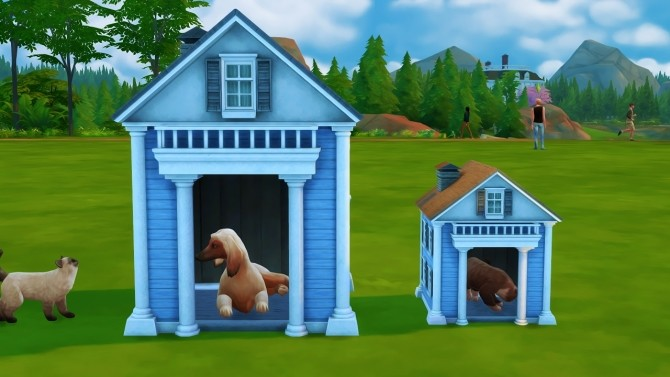 Sims 4 CATS AND DOGS LARGE/SMALL BEDS AND HOUSE at REDHEADSIMS