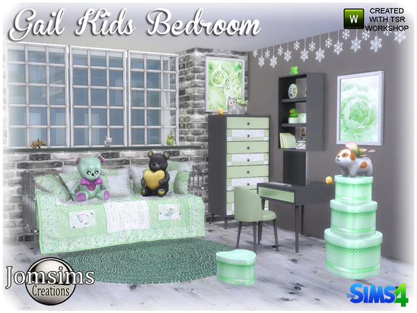 Gail Kids bedroom by jomsims at TSR image 3719 Sims 4 Updates