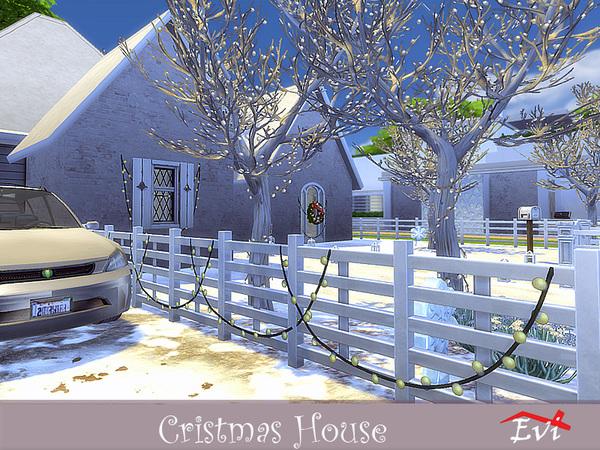 Christmas house by evi at TSR image 3722 Sims 4 Updates