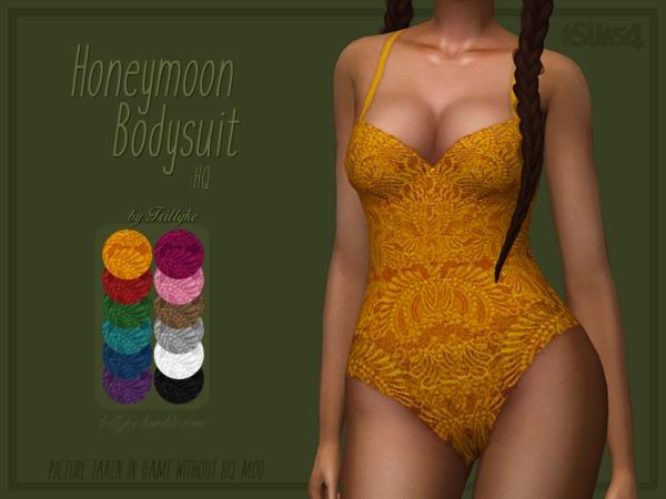 Honeymoon Bodysuit by Trillyke at TSR image 376 Sims 4 Updates