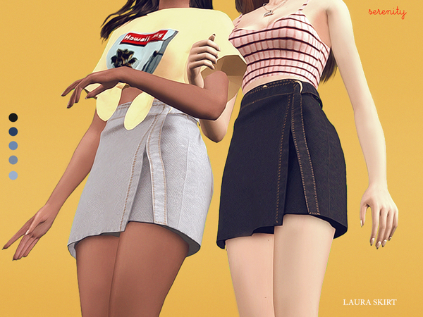 Sims 4 Laura Skirt by serenity cc at TSR