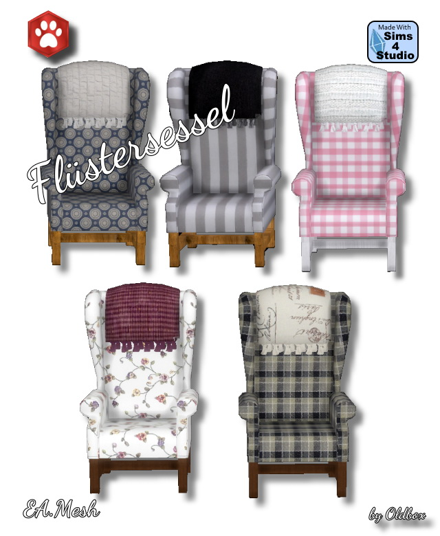 Whispering armchair by Oldbox at All 4 Sims image 3781 Sims 4 Updates