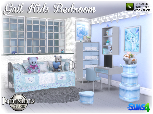 Gail Kids bedroom by jomsims at TSR image 3818 Sims 4 Updates
