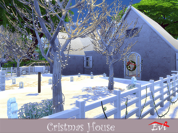 Christmas house by evi at TSR image 3820 Sims 4 Updates