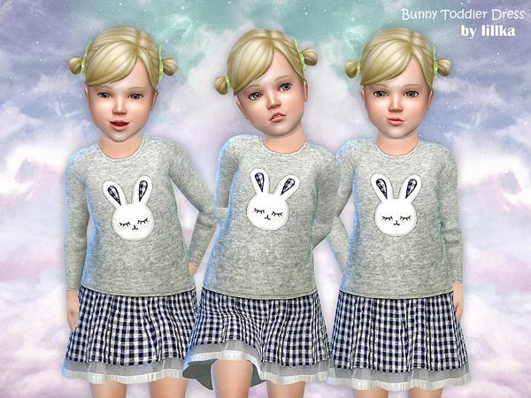 Sims 4 Bunny Toddler Dress by lillka at TSR