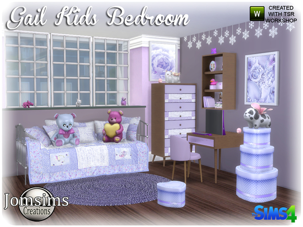 Gail Kids bedroom by jomsims at TSR image 3919 Sims 4 Updates