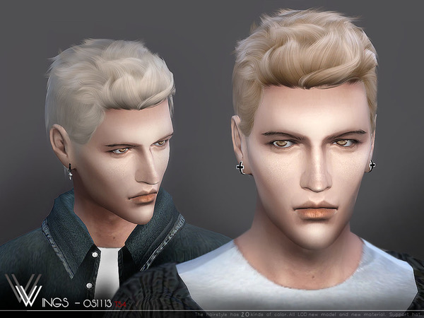 Hair Os1113 M By Wingssims At Tsr 187 Sims 4 Updates
