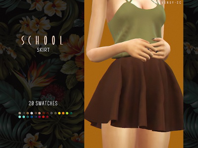 Sims 4 School Skirt by EnriqueSims at Heavendy cc