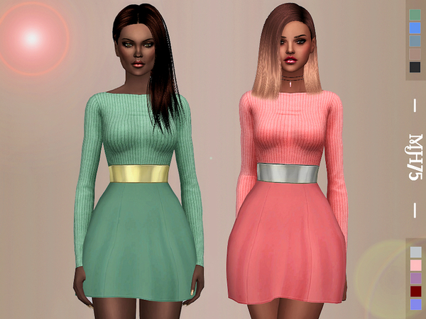 Astrea Dress by Margeh 75 at TSR image 4 Sims 4 Updates