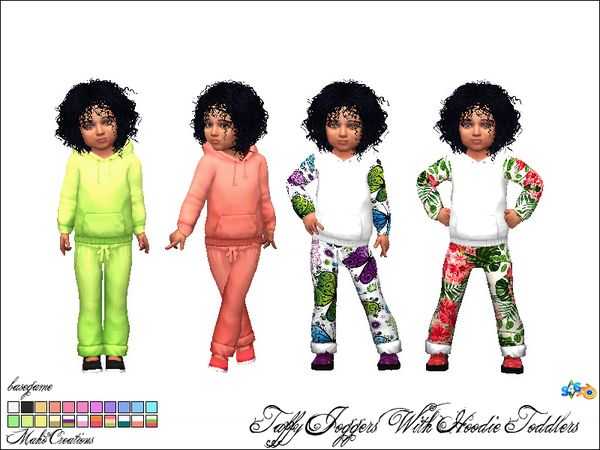 Sims 4 Taffy Hoodie Joggers T by MahoCreations at TSR
