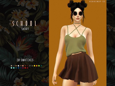 School Skirt by EnriqueSims at Heavendy cc image 400 Sims 4 Updates