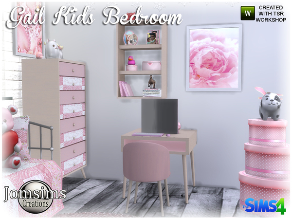 Gail Kids bedroom by jomsims at TSR image 4018 Sims 4 Updates