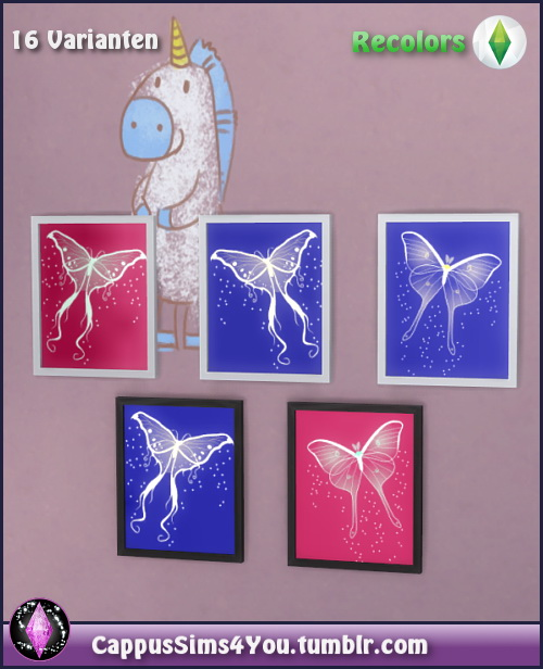 Sims 4 Butterfly poster at CappusSims4You