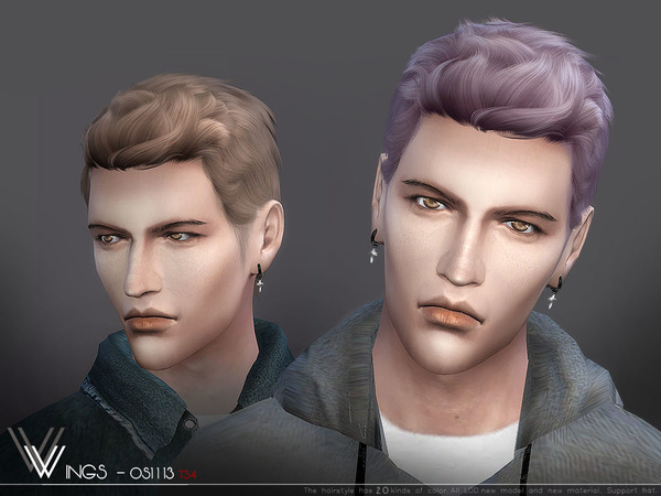 Hair OS1113 M by wingssims at TSR image 408 Sims 4 Updates
