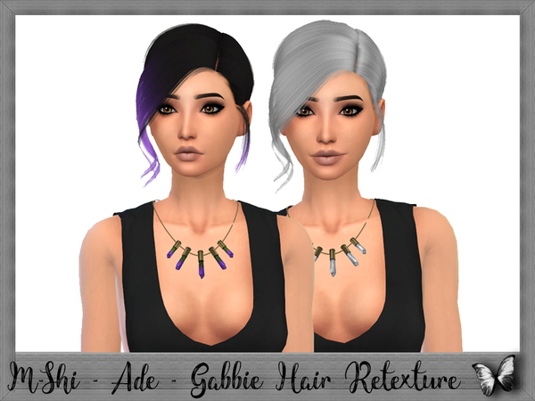 Sims 4 Ade Gabbie Hair Retexture by mikerashi at TSR