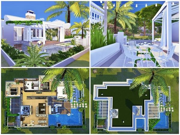 Sims 4 BAHAMA Modern house by Moniamay72 at TSR