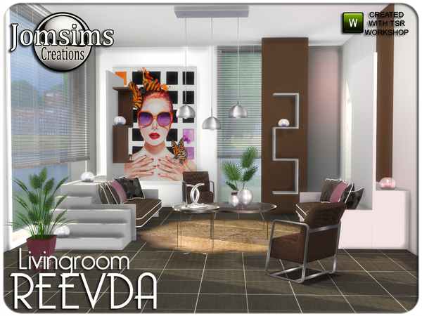 Reevda living room by jomsims at TSR image 4113 Sims 4 Updates