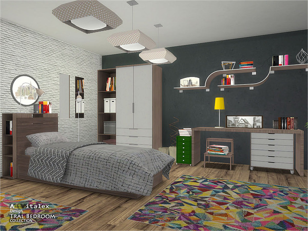 Tral Bedroom by ArtVitalex at TSR image 413 Sims 4 Updates
