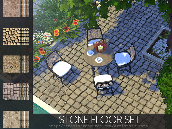 Stone Floor Set by Rirann at TSR image 419 Sims 4 Updates