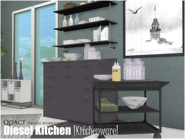 Diesel Kitchenware by QoAct at TSR image 420 Sims 4 Updates