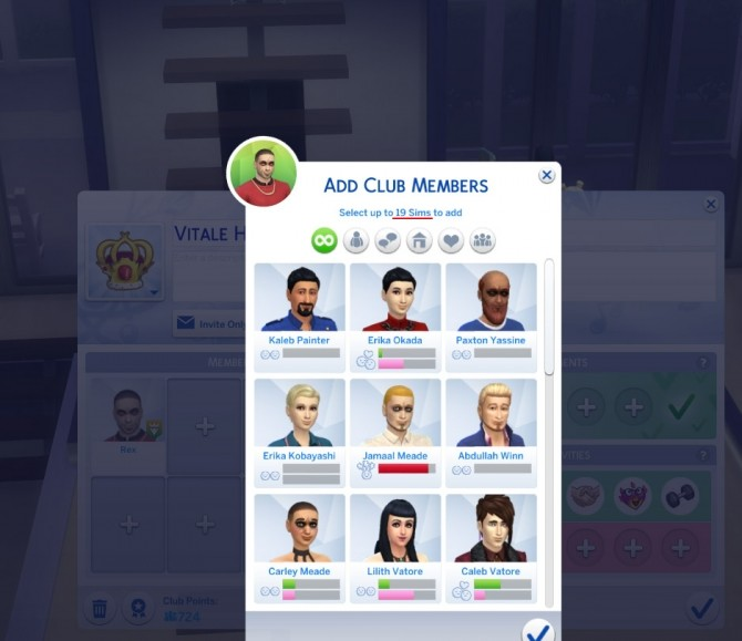 More Club Members & Gender Requirements by edespino at Mod The Sims image 4218 670x579 Sims 4 Updates