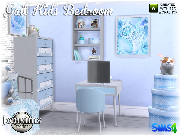 Gail Kids bedroom by jomsims at TSR image 4219 Sims 4 Updates