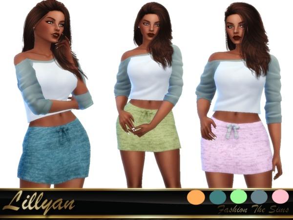 Sims 4 SKIRT by LYLLYAN at TSR
