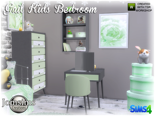 Gail Kids bedroom by jomsims at TSR image 4317 Sims 4 Updates