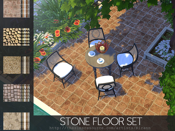 Stone Floor Set by Rirann at TSR image 435 Sims 4 Updates